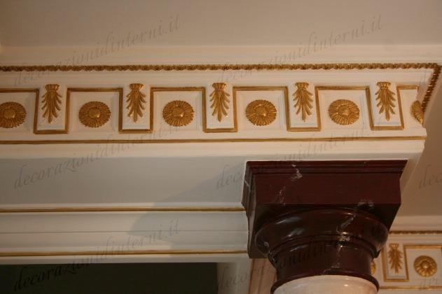 Decorazioni d 39 interni dorature a foglia - Decorazioni d interni ...